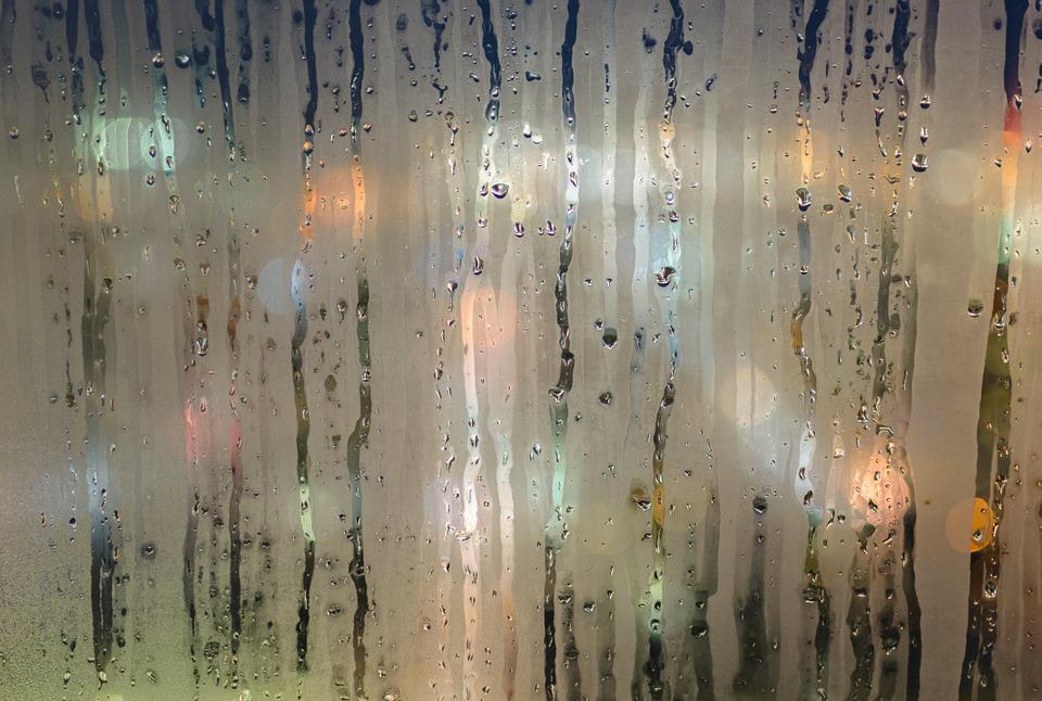 Moisture, Wet, Window, Raining, Fog, City, Glass, Drops