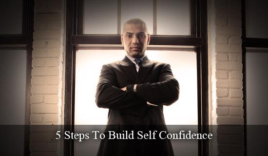 man displaying confidence